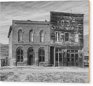 Dechambeau Hotel And Ioof Hall Bodie Ca Wood Print by Troy Montemayor