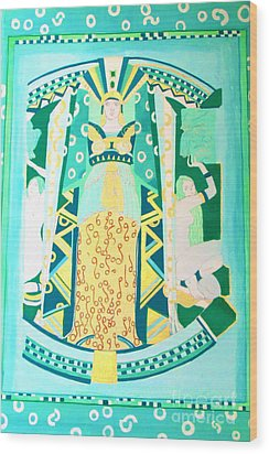 Deco Green Wood Print by Beth Saffer