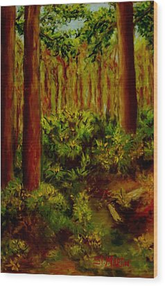 Deep In The Pines Wood Print by Annie St Martin