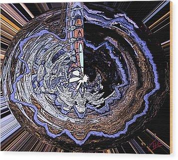Deeper Life Circle  Works 2 Wood Print by Colette V Hera  Guggenheim