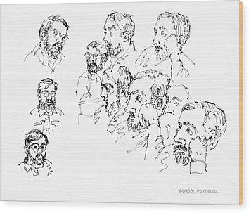 Deepfreeze-s.pole-art5 Wood Print by Gordon Punt