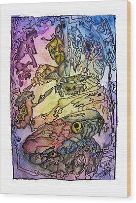 Deepsea Kritters Wood Print by Mimulux patricia no No