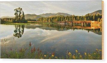 Deer Island Bridge Wood Print by Albert Seger