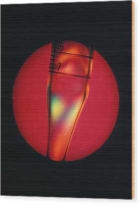 Defective Plastic, Light Micrograph Wood Print by Mark Sykes
