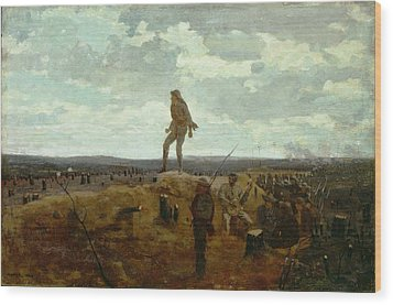 Defiance - Inviting A Shot Before Petersburg Wood Print by Winslow Homer