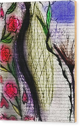Deflower Wood Print by Stephanie Margalski