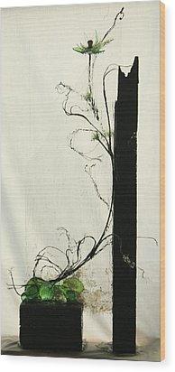 Defrost Wood Print by Mariann Taubensee