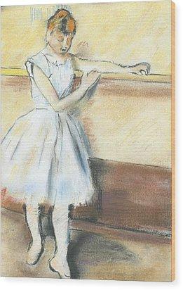 Degas's Ballerina Wood Print by Amanda Faries