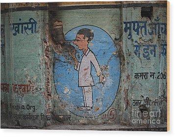 Delhi Smoker Wood Print by Jen Bodendorfer