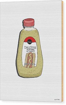 Deli Style Mustard Wood Print by George Pedro
