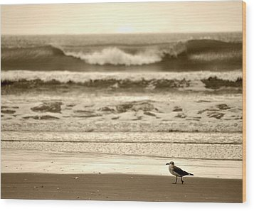 Wood Print featuring the photograph Deliberate Solitude by Kelly Nowak