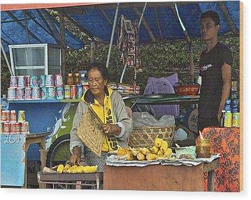 Delicious Corn - Bali Wood Print