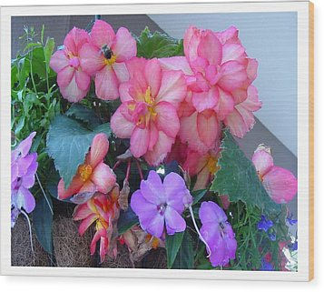 Wood Print featuring the photograph Delightful Potpourri Of Pastels by Frank Wickham