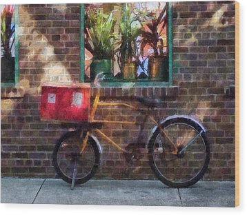 Delivery Bicycle Greenwich Village Wood Print by Susan Savad