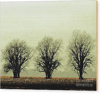 Delta Dust Wood Print by Lizi Beard-Ward