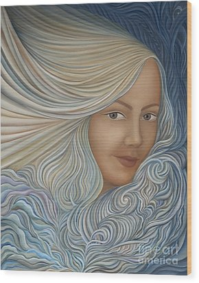 Demeter Wood Print by Joanna Pregon