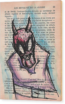 Demon In A Straightjacket Wood Print by Jera Sky