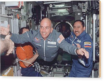Dennis Tito, First Space Tourist Wood Print by Nasa