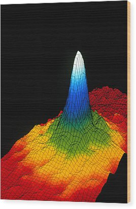 Density In A Bose-einstein Condensate Wood Print by National Institute Of Standards And Technology (nist)