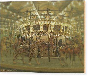 Dentzel Carousel At Glen Echo Park Maryland Wood Print
