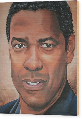 Denzel Washington Wood Print by Timothe Winstead