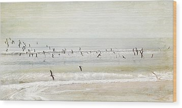 Wood Print featuring the photograph Departure     by Karen Lynch