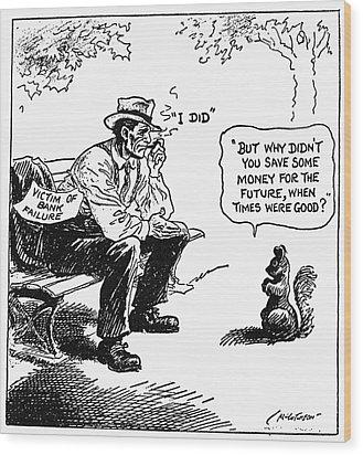 Depression Cartoon 1932 Wood Print by Granger