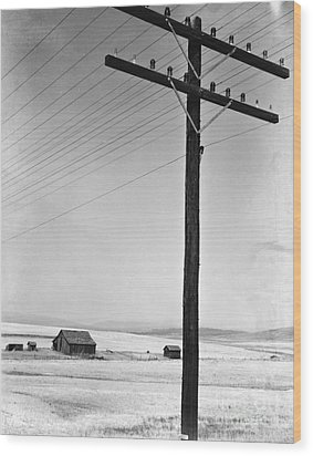 Depression Era Rural America Wood Print by Photo Researchers