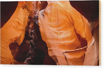Depths Of The Canyon Wood Print by Adam Pender