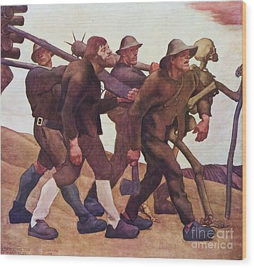 Der Totentanz Von Anno Neun Wood Print by Pg Reproductions