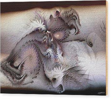 Wood Print featuring the digital art Derailing Destiny by Casey Kotas