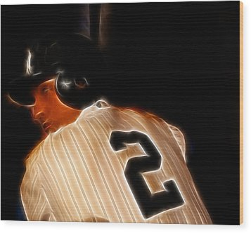 Derek Jeter II- New York Yankees - Baseball  Wood Print by Lee Dos Santos