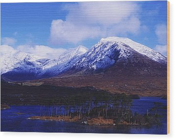 Derryclare Lough, Twelve Bens Wood Print by The Irish Image Collection