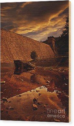 Derwent Overflow Wood Print by Nigel Hatton