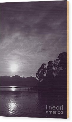 Wood Print featuring the photograph Derwent Ripples by Linsey Williams