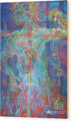 Descended Wood Print by Deb Magelssen