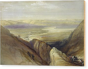 Descent Upon The Valley Of Jordan Wood Print by Everett