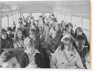 Desegregation: Busing, 1973 Wood Print by Granger