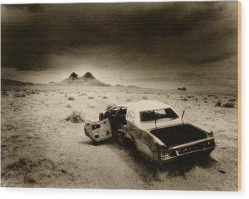Desert Arizona Usa Wood Print by Simon Marsden