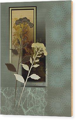 Desert Flowers Wood Print by Regina Femrite