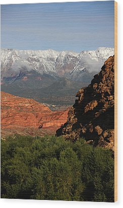 Wood Print featuring the photograph Desert Foothills II by Marta Alfred