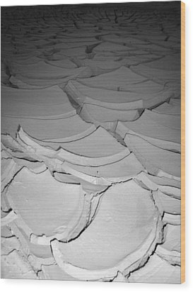 Desert Lake Wood Print by Naxart Studio