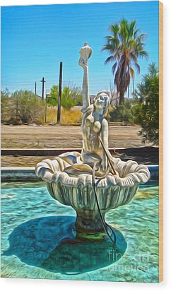 Desert Oasis - 02 Wood Print by Gregory Dyer