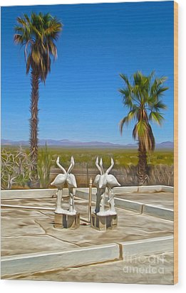 Desert Oasis - 03 Wood Print by Gregory Dyer