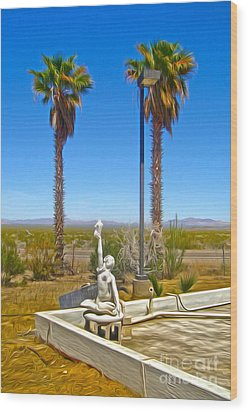 Desert Oasis Wood Print by Gregory Dyer