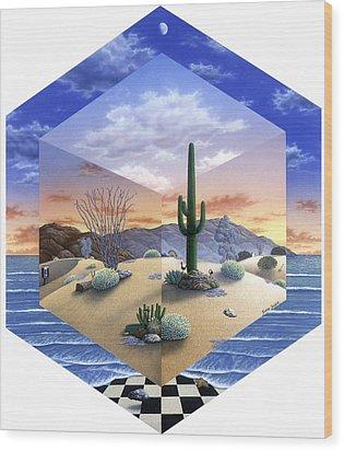 Desert On My Mind 2 Wood Print by Snake Jagger