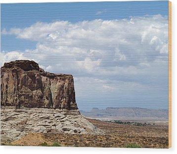 Desert Sky Wood Print by Terry Eve Tanner