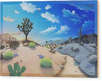 Desert Timeline Wood Print by Snake Jagger