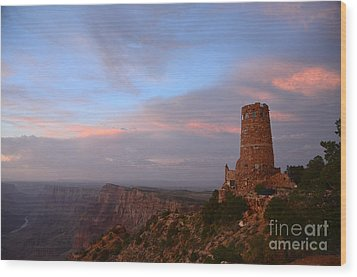 Desert View Watchtower Wood Print by Cassie Marie Photography