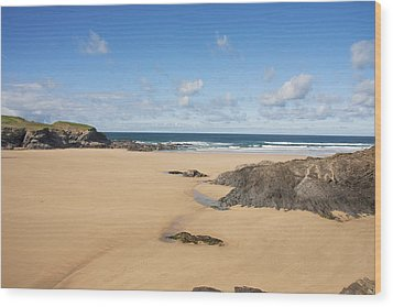 Wood Print featuring the photograph Deserted Beach by Paul Scoullar
